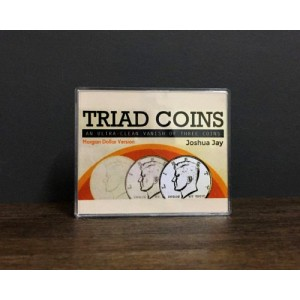 Triad Coins (Morgan Gimmick) by Joshua Jay