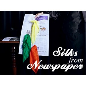 Silks from Newspaper (Gimmick)