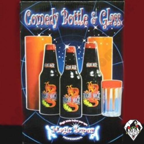 Comedy Bottle & Glass